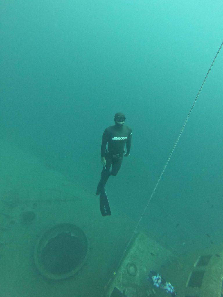 אימון צלילה חופשית באילת