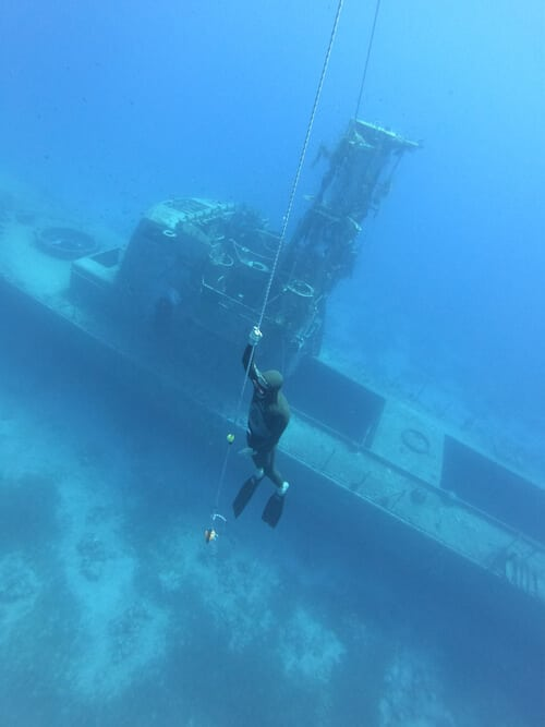 freediving in the Satil