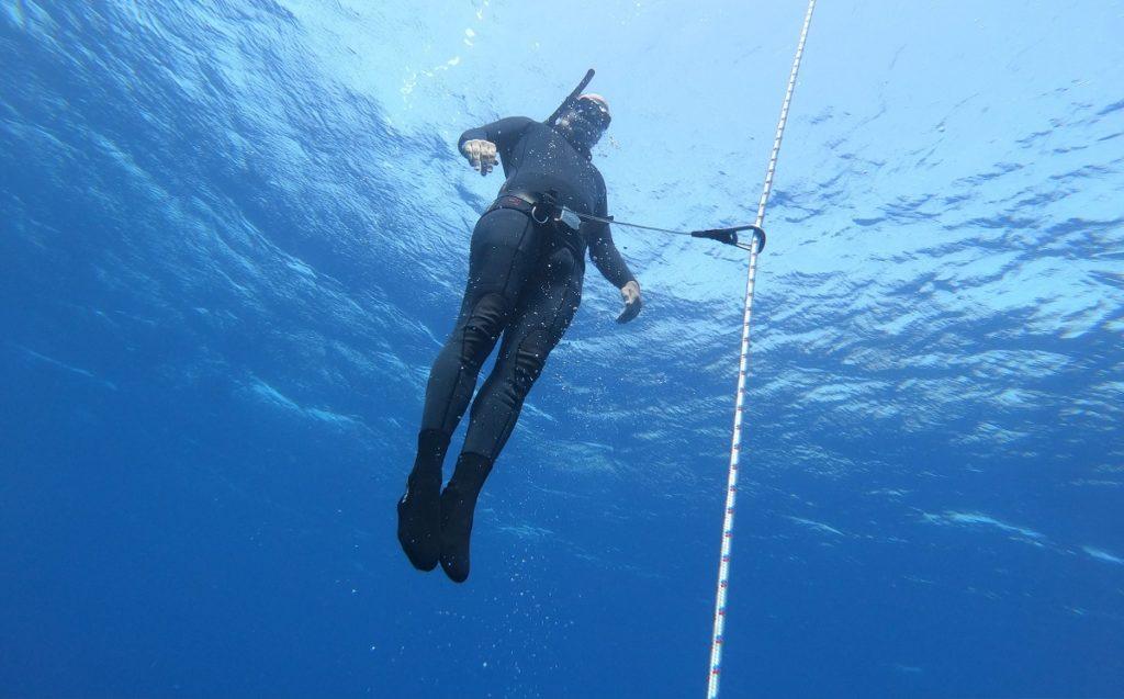 צלילה חופשית ללא סנפירים