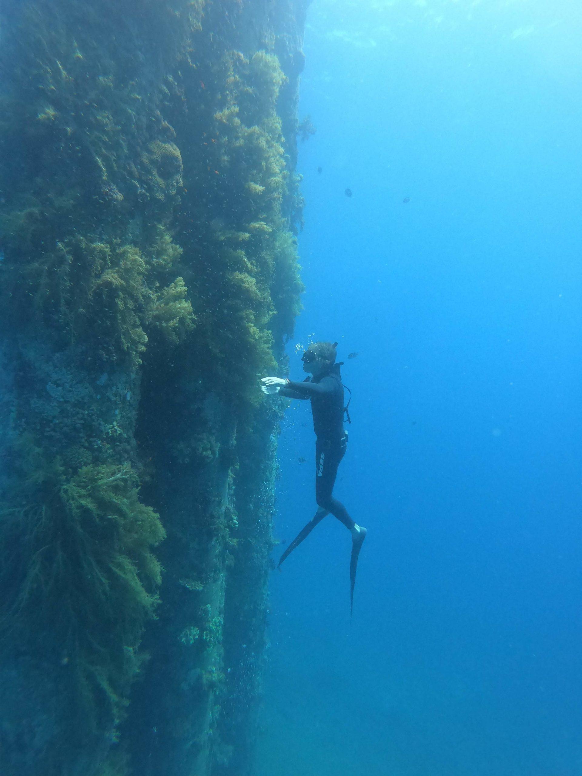 freediving in Katsa Eilat